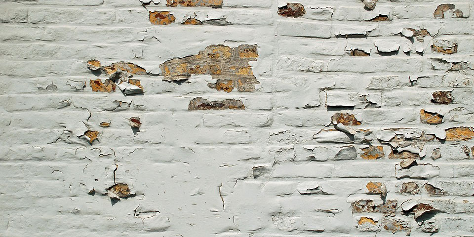 afbladderende muren